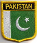 Pakistan Embroidered Flag Patch, style 07.